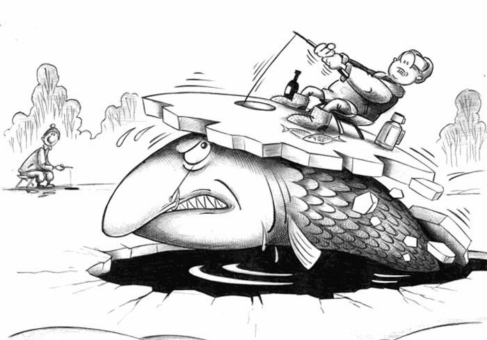 Малюнок  про риболовлю та лід