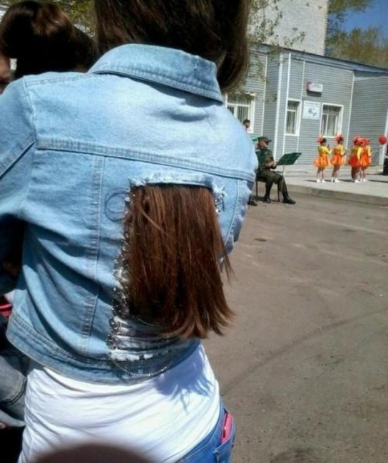 Фото прикол  про волосся та одяг