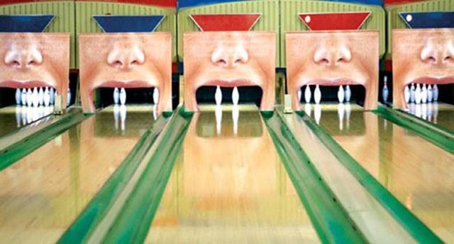 Фото прикол  про боулінг та зуби
