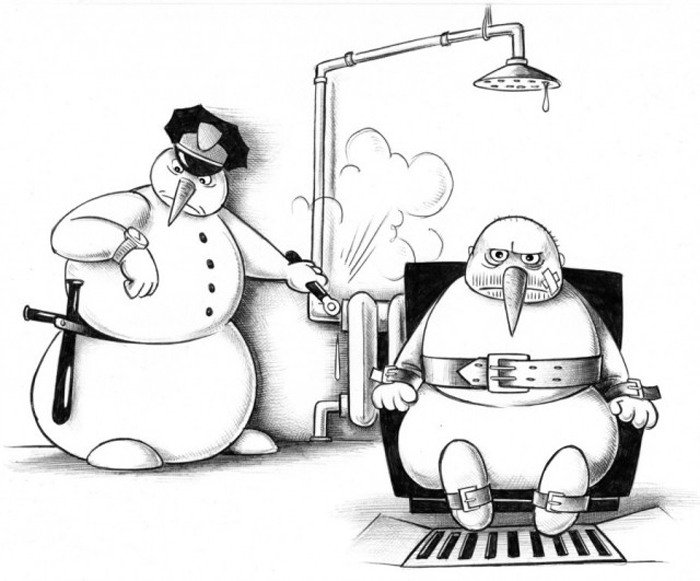 Малюнок  про сніговика та страту