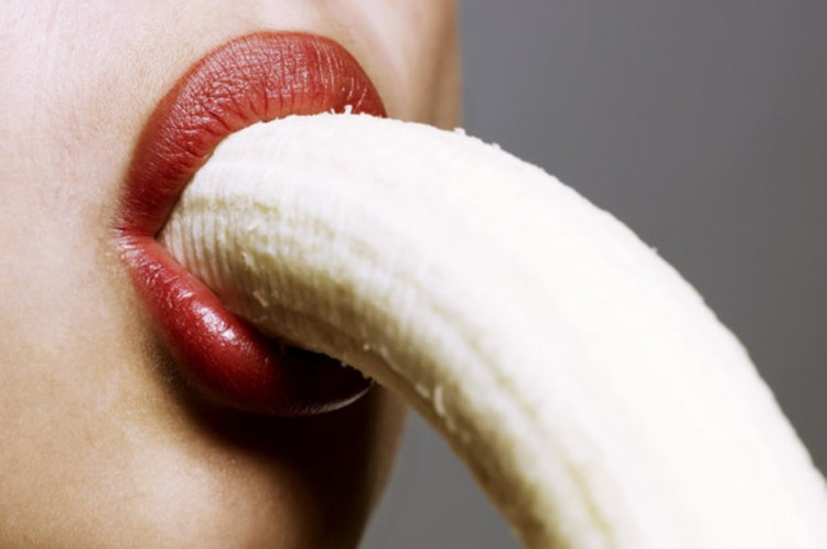 Фото прикол  про банан та губи