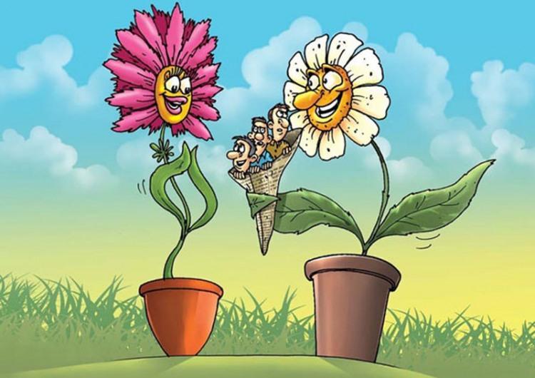Малюнок  про квіти, 8 березня чорний