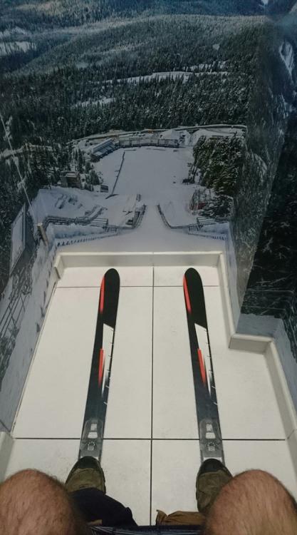Фото прикол  про лижників та туалет