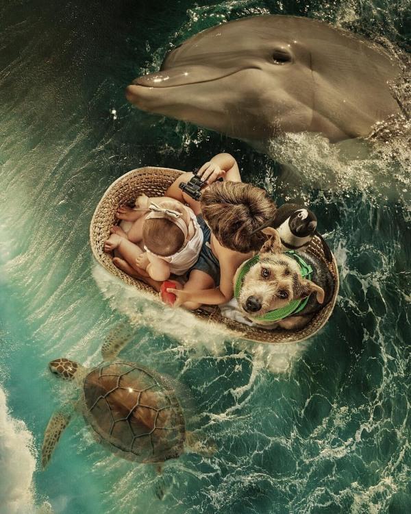 Фото прикол  про дітей та тварин