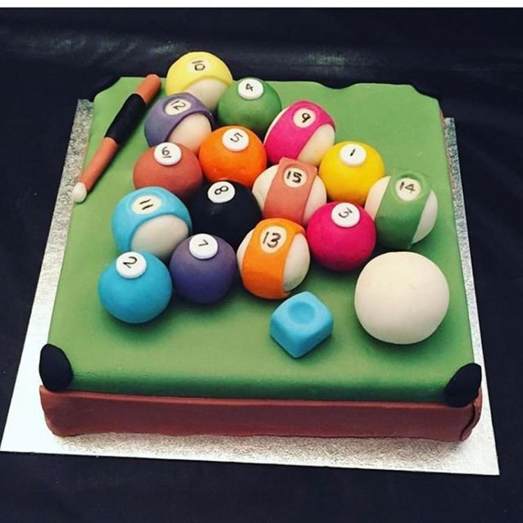 Фото прикол  про більярд та торт