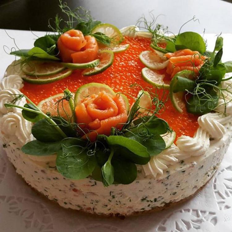 Фото прикол  про ікру та торт