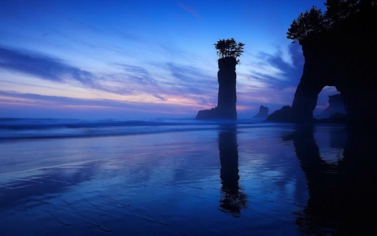 Фото прикол  про пляж та захід сонця