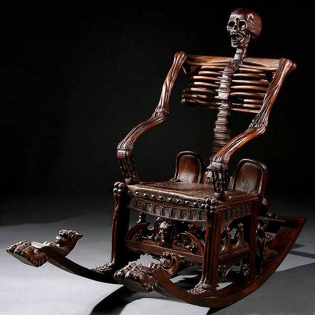 Фото прикол  про крісло чорний