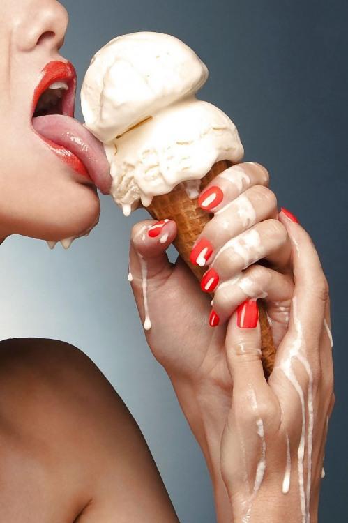 Фото прикол  про морозиво та спокушання