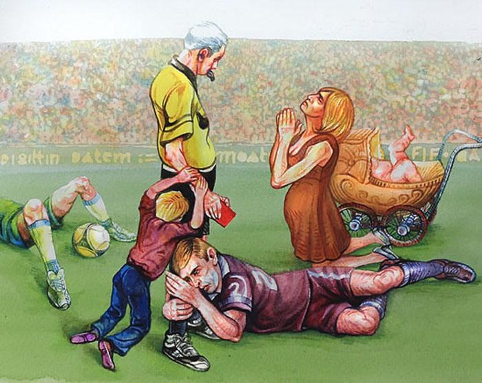 Малюнок  про футбольних суддів та футбол