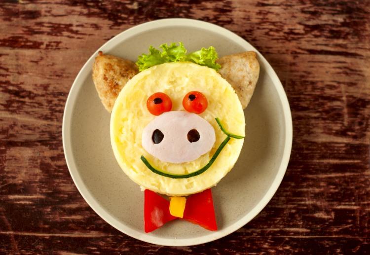 Фото прикол  про їжу та свиней
