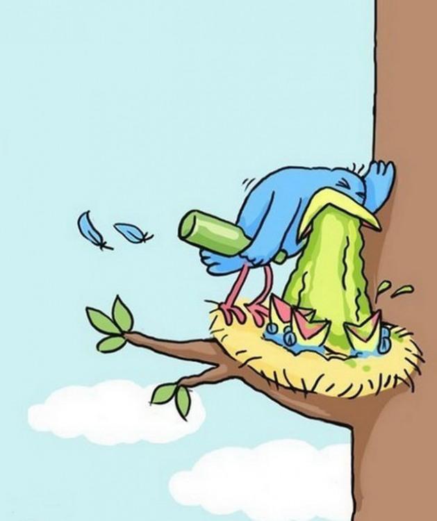 Малюнок  про птахів, нудоту огидний