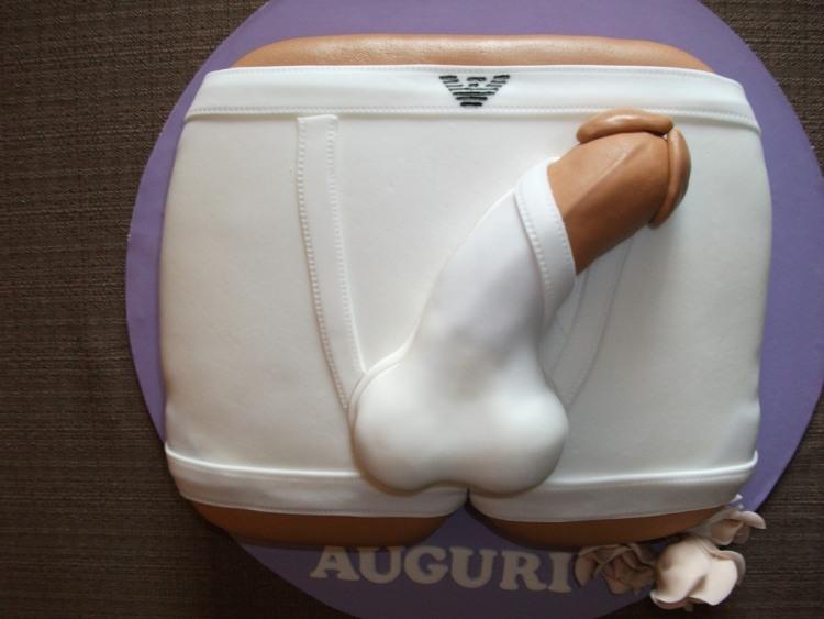 Фото прикол  про торт, статевий член вульгарний