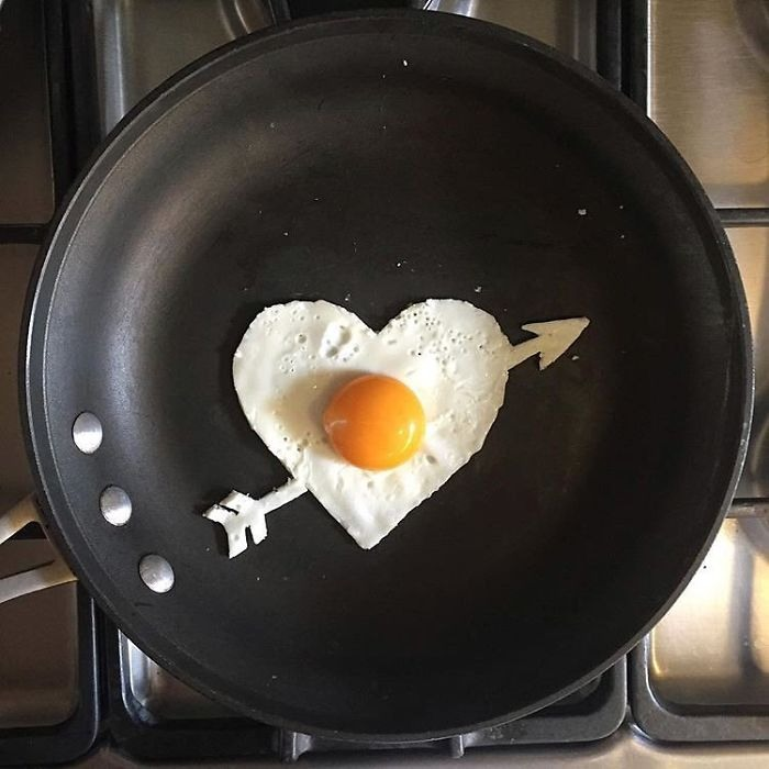 Фото прикол  про яйця, серце та їжу