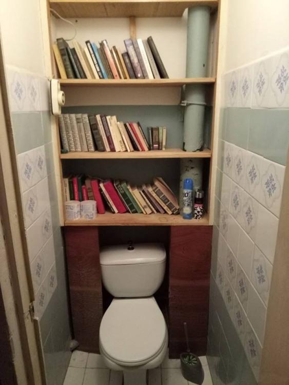 Фото прикол  про туалет та бібліотеку