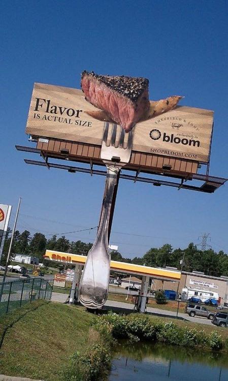Фото прикол  про виделку, м'ясо реклама