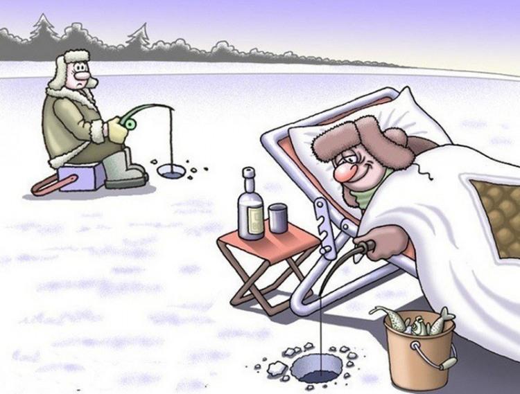 Малюнок  про рибалок