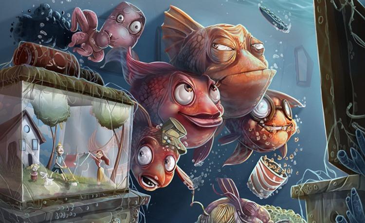 Малюнок  про акваріум та рибу