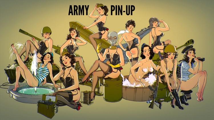 Малюнок  про армію, дівчат вульгарний