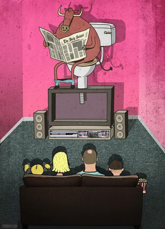 Малюнок  про телебачення та телевізор
