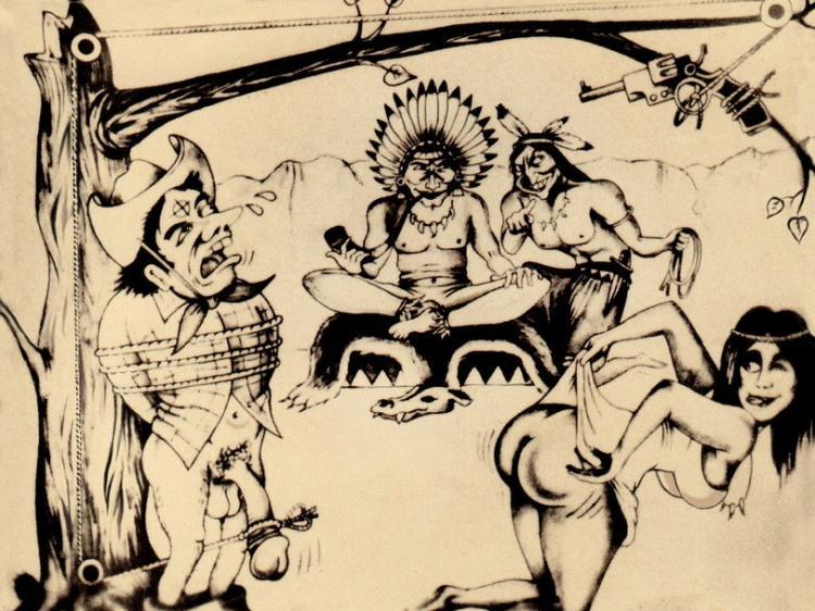 Малюнок  про індіанців, страту вульгарний