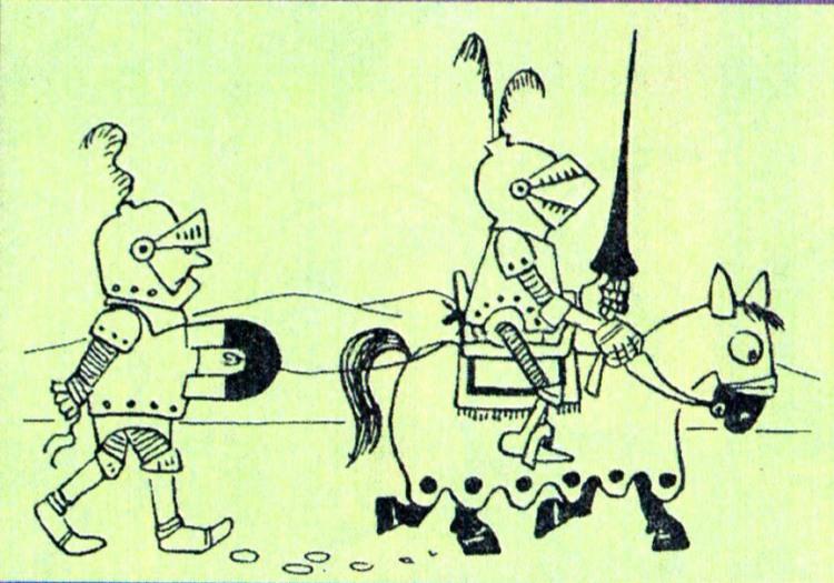 Малюнок  про лицарів журнал перець