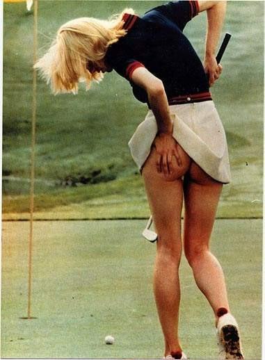 Фото прикол  про гольф, сідниці, засвітила вульгарний