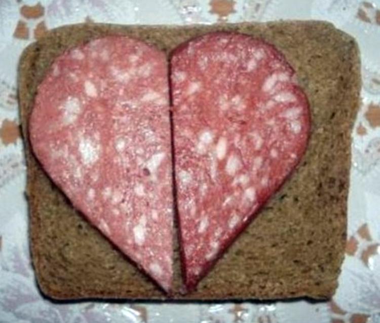 Фото прикол  про канапку та валентинку