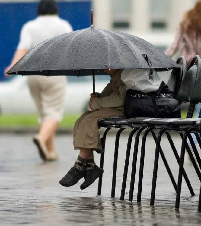 Фото прикол  про парасольку та дітей