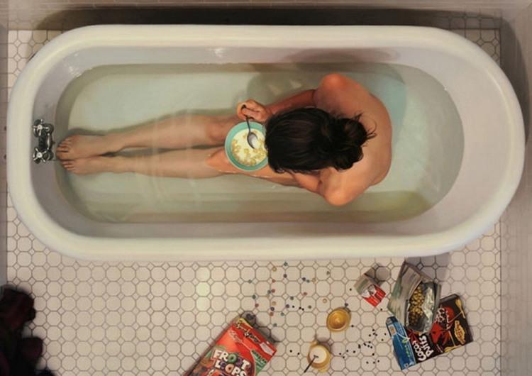 Фото прикол  про сніданок, ванну вульгарний