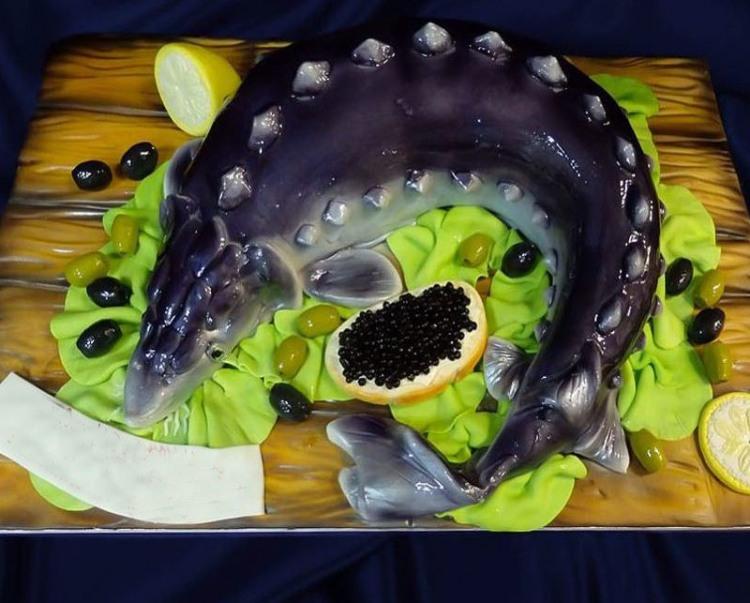 Фото прикол  про торт, рибу та ікру