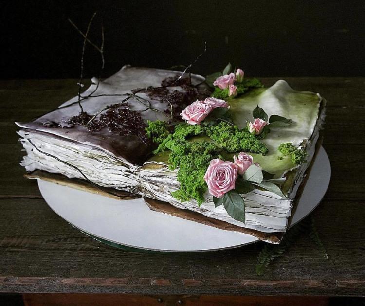 Фото прикол  про торт та книги