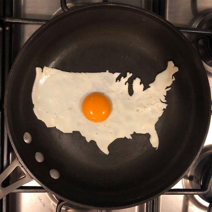 Фото прикол  про яйця, америку та приготування їжі