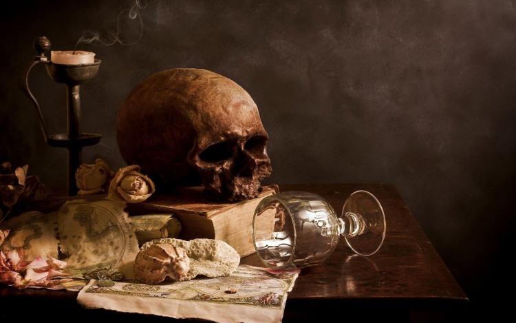Фото прикол  про череп чорний