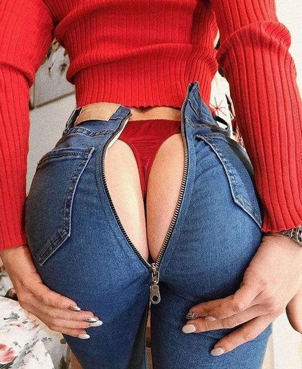 Фото прикол  про застібку-блискавку, сідниці, джинси вульгарний