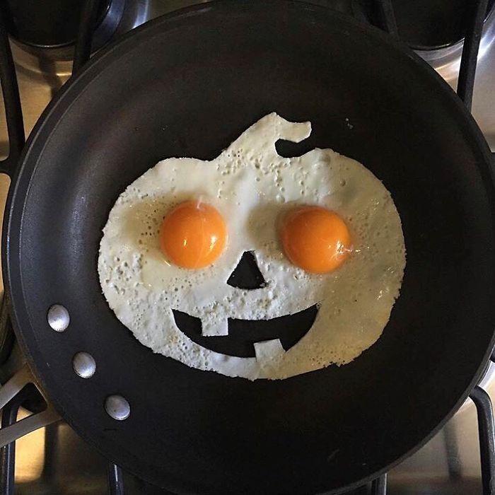 Фото прикол  про гарбуз, яйця, приготування їжі та хеллоуїн