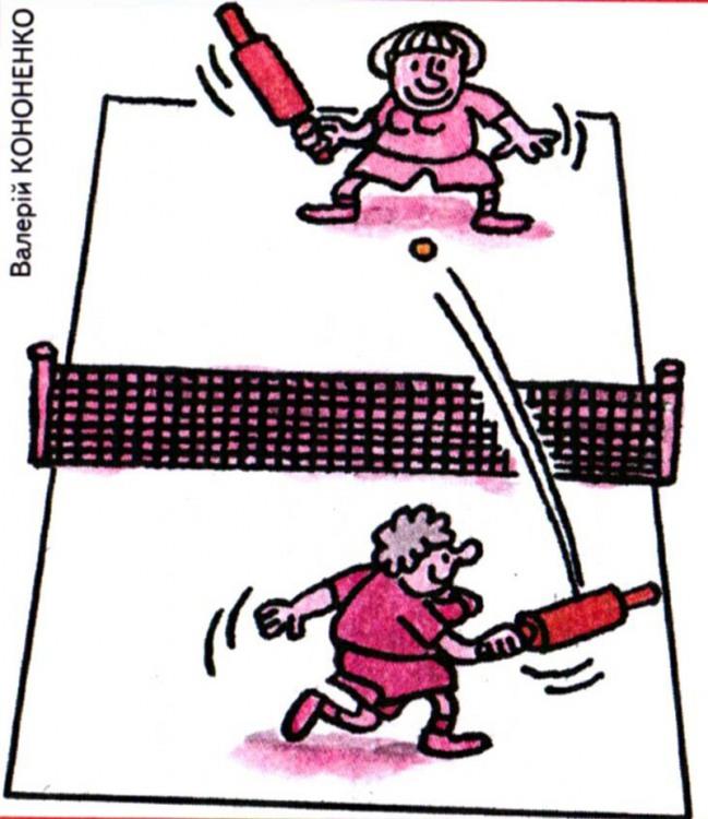 Малюнок  про теніс, качалку журнал перець