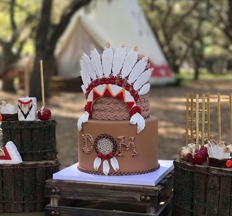 Фото прикол  про торт та індіанців