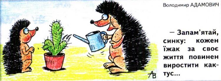 Малюнок  про їжаків, кактус журнал перець