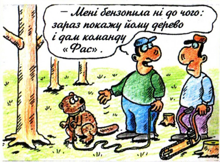 Малюнок  про бобрів журнал перець