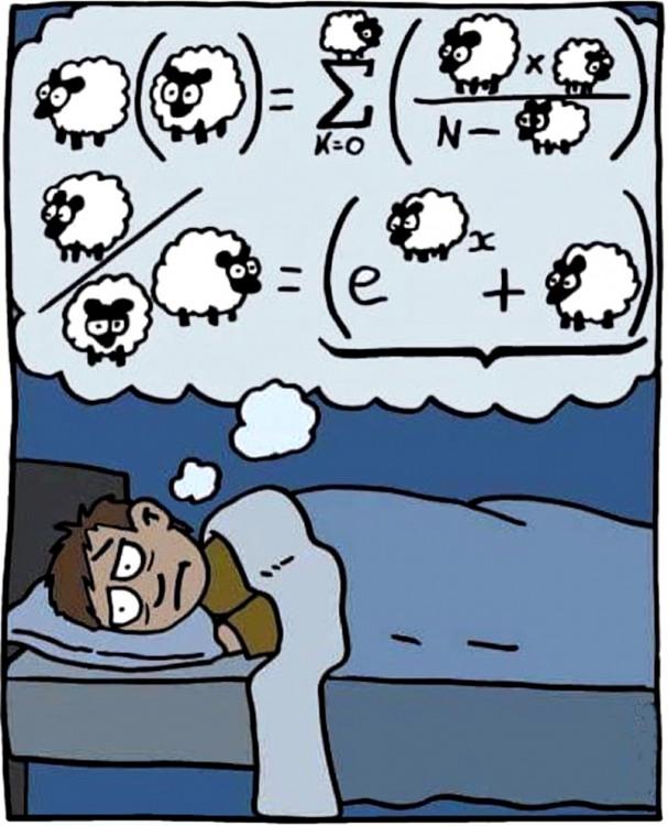 Малюнок  про сон, овець та математиків