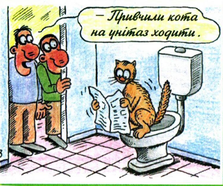 Малюнок  про котів, унітаз журнал перець