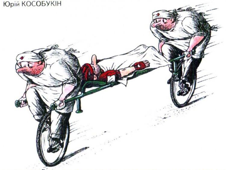 Малюнок  про санітарів, велосипед журнал перець