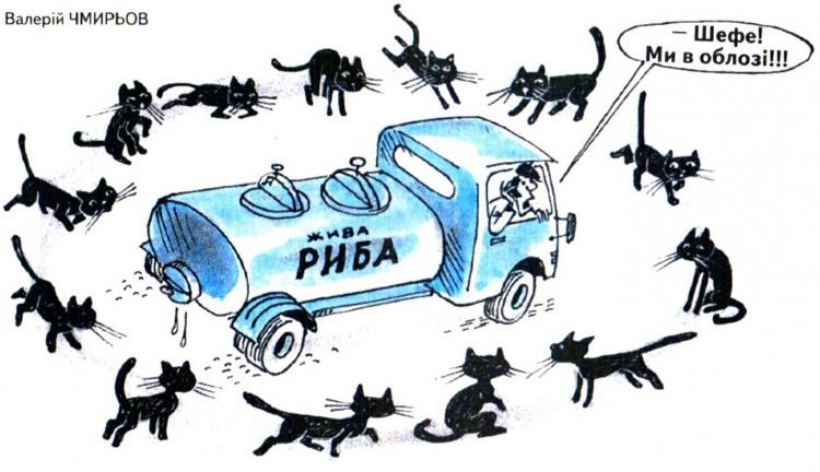 Малюнок  про рибу, котів журнал перець