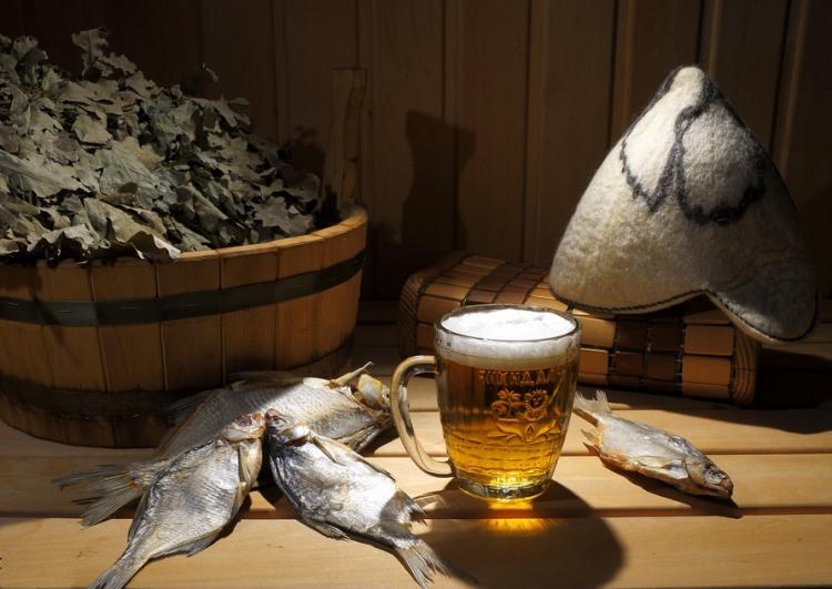Фото прикол  про лазні, пиво та натюрморт