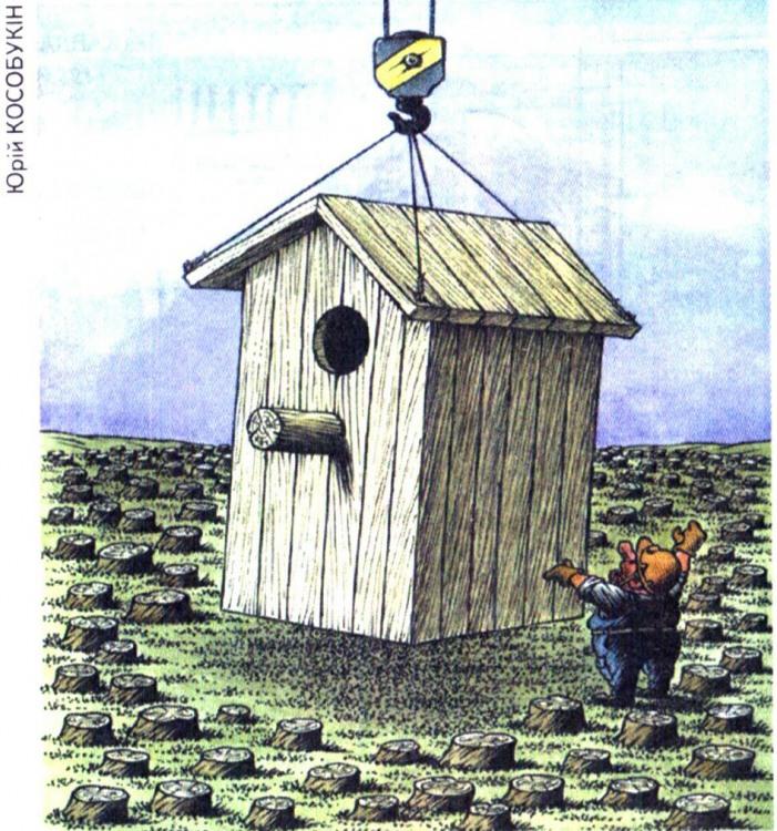 Малюнок  про шпаківню, пень журнал перець