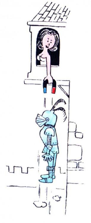 Малюнок  про магніт, лицарів журнал перець