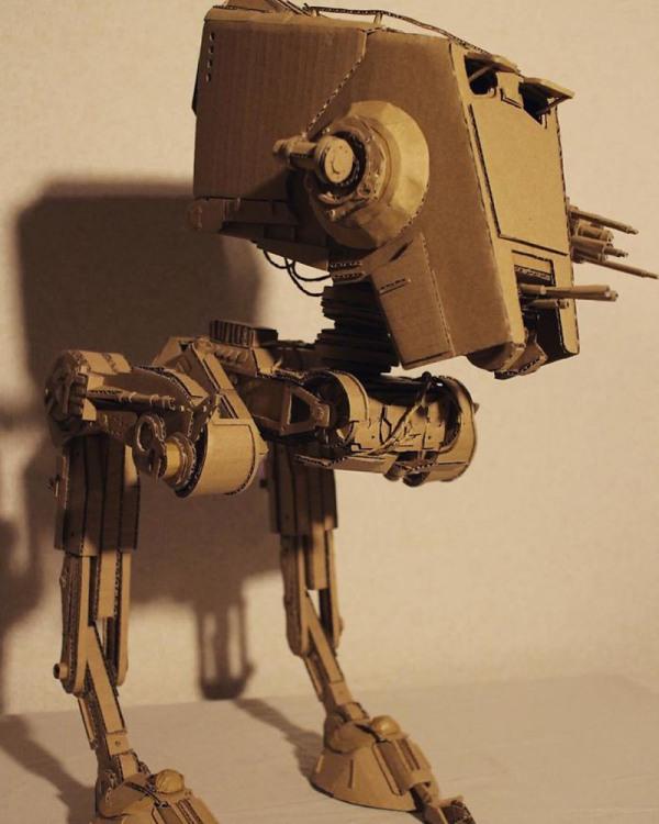 Фото прикол  про картон та зоряні війни