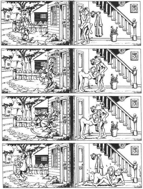 Малюнок  про листонош, інтимний, вульгарний комікс