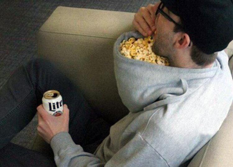 Фото прикол  про попкорн